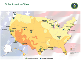 For More Information About The Solar America Cities Visit The U S Department Of Energy At Http Www1 Eere Energy Gov Solar Solar America About Html